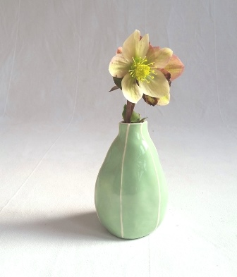 Pear bud vase, light green
