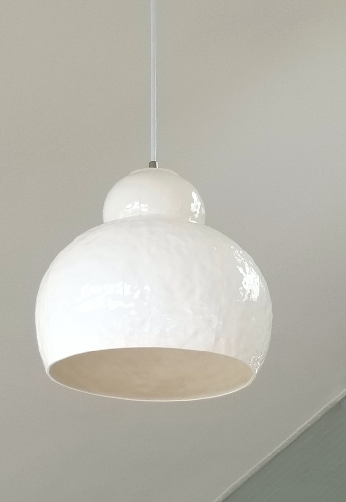 ceramic pendant light, large, white